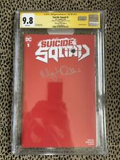 SS CGC 9.8 Suicide Squad #1 RED UNKNOWN BLANK Signed By Margot Robbie