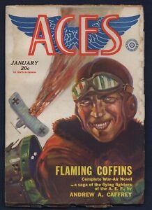 Fiction House ACES WWI Aviation Pulp, H. C. MURPHY JR. Cover, January 1930, FINE