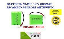 Batteria Ni-Mh 3,6V 800mAh RICARICABILE