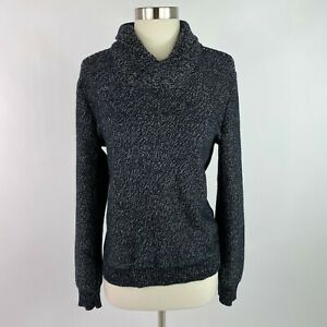 INC International Concepts Women Small Sweater Black Cowl Neck Pullover NEW