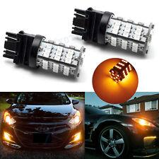 2X Turn Signal Light 3000K Amber 3457A 3157 LED Bulbs for Toyota Corolla Tundra