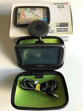 TOMTOM GO 50 GPS SAT NAV UK & IRELAND LIFETIME TRAFFIC VIA SMARTPHONE + STORAGE