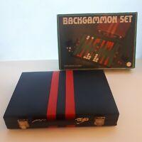 Boxed Vintage Leather Style Backgammon Set
