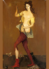 Leonor Fini Witch canvas print giclee 8X12&12X17 art poster reproduction