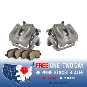 Front OE Brake Calipers And Rotors /& Ceramic Pads For 2004-2007 Nissan Murano