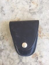 Vintage Gould and Goodrich Black Leather Handcuff Case, Model B71