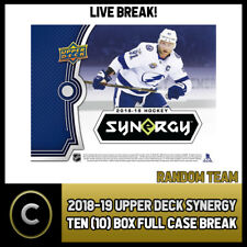 2018-19 UPPER DECK SYNERGY 10 BOX (FULL CASE) BREAK #H262 - RANDOM TEAMS
