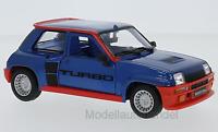 Renault 5 Turbo 1982  metallic blau  - 1:24 Bburago    >>NEW<<