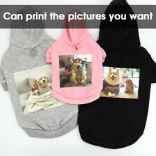 Custom Picture Personalized Dog Hoodie Coat Pet Clothes Warm Sweatershirt Jacket