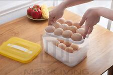 Doppellagen 24 Eier Aufbewahrungsbox Halter Körbe Organizer Picknick Kühlschrank