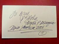 Angela Perez Baraquio Miss America 2001, Hawaii Signed Index Card Autograph Auto