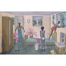 """""""The Great Escape"""" by Jonas Profil - c. 2000 - Haitian Art - 40 in x 28 in"""