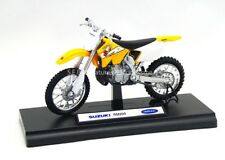 SUZUKI RM 250cc JAUNE 1/18 Welly  -