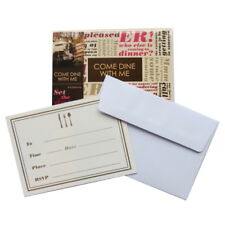 Come Dine with Me, Dinner Party Invitiations and Envelopes - Pack of 8