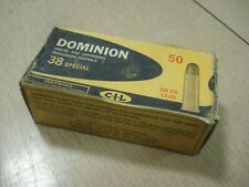 Vintage EMPTY CIL Dominion 38 SPECIAL SHELL BOX Center Fire Cartridge Montreal 5
