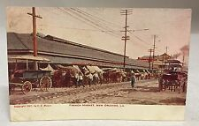 1908 Postcard French Market New Orleans Louisiana Antique Pc