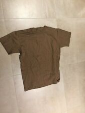 us army t shirt brown, 100% cotton,GI ISSUE, new old stock, XS, us made,2002