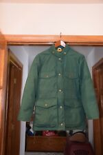 Eddie Bauer USA Womens Green Premium Quality Goose Down Winter Coat Jacket X-S