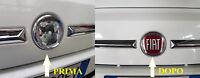 ADESIVO  LOGO FREGIO RESINATO 3D FIAT x PANDA 500 anteriore o posteriore
