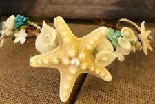 XO Bouquets Mermaid Tiara Headband  Under The Sea Sea Princess Crown Starfish