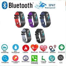 Bluetooth Smart Bracelet Watch Blood Pressure Heart Rate Fitness Tracker Monitor