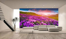 Flowers in the Mountains Wall Mural Photo Wallpaper GIANT DECOR Paper Poster