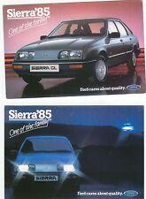 Ford Sierra x 2 original colour Postcards 1985 Pub. Nos. SP 183 & 184 dated 1985