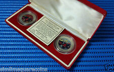 1997 Hong Kong Returns to China 2X Trade Dollar Coin Set by British Royal Mint