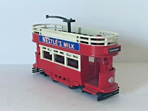 Vintage LLEDO DAYS GONE LEICESTER LE3 2WZ LONDON UNITED/NESTLE MILK Red Tram Toy