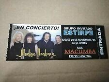 MEDINA AZAHARA 29 DE NOVIEMBRE 2001 Entrada ticket