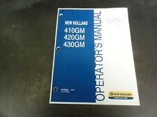New Holland 410gm 420gm 430gm Finish Mower Operators Manual 87757960 308