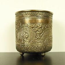 Vaso treppiedi il drago in rame argentato Cina 1900 Cina argentato H : 10,5 cm