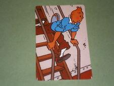 tintin dans un escalier carte téléphonique  (phone card) OBJET BD