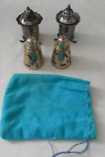 Vtg 2 Pairs of Salt & Pepper Shakers 1) Sterling 1) E.N.P.S Made in England