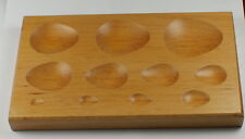 Doming dapping block 11 holes Large wooden TEAR DROP 14mm 67mm wood tool forming