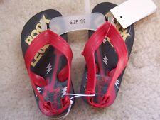 NEW Boys Girls Shoes Rock N Roll Guitar Flip Flop Sandals Size 5 6