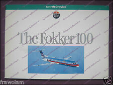 "FACTORY SALES BROCHURE - FOKKER 100 - 36 PAGES 21x30cm /8.3""x11.7"" ENGLISH ±1989"