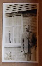 Photograph social History well Dressed Man outside house