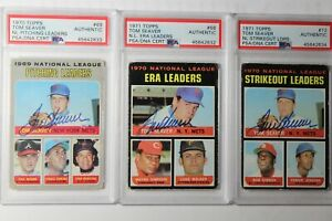 Lot Of 6 Tom Seaver PSA-DNA Certified Hand Signed Cards~1970-1974~Incredible Set