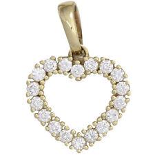 Anhänger Herz 585 Gold Gelbgold 18 Diamanten Brillanten 0,50ct. Herzanhänger.