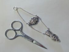 UNUSUAL ORNATE STERLING SILVER SCISSOR HOLDER & SCISSORS - NEW - LAST ONES!!