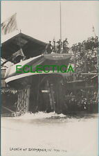 More details for america's cup challenger yacht shamrock iv launch gosport real photo 1914 #1