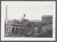 Vintage Photo Man Driving Ford 9N Tractor 740957