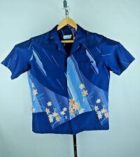 Vintage Mark Raysten Malihini Multi Color Navy Blue with Flowers Aloha XL