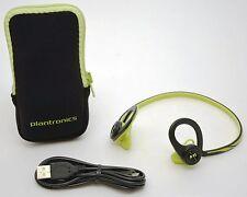 Plantronics Back Beat Fit Wireless Headphones Green Bluetooth Headset iPhone -A-