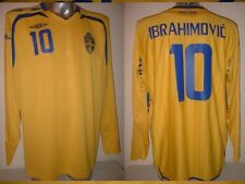 Sweden Umbro Adult XL ZLATAN IBRAHIMOVIC Shirt Jersey L/S Football Soccer PSG 12