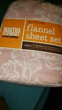 """Flannel sheet set-""""floral stripe"""" 100% Cotton. New, """"Pink & White""""- brand new"""
