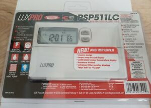 NEW LuxPro Contractor Grade Programmed Electric Thermostat PSP511LC New/Sealed