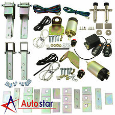 New Universal 2 Door Suicide Hidden Hinges Kit With 85lbs Shaved Door Remote Kit