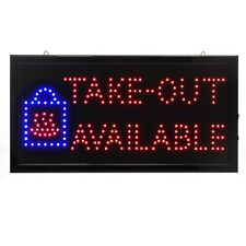 Alpine Industries 19x10 Rectangular Led Business Store Restaurant Take-Out Sign